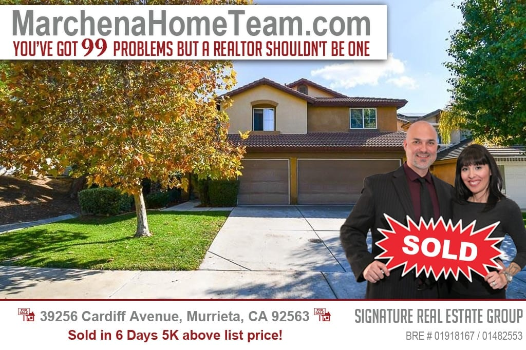 SOLD 39256 Cardiff Ave Murrieta Ca 92563