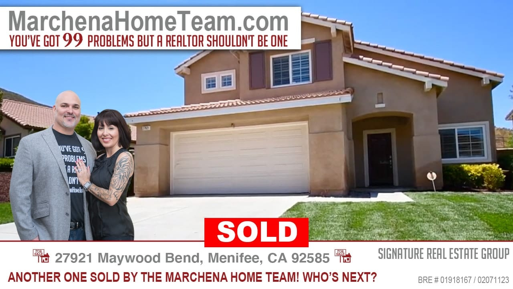 Sold 27921 Maywood Bend Menifee CA 92585