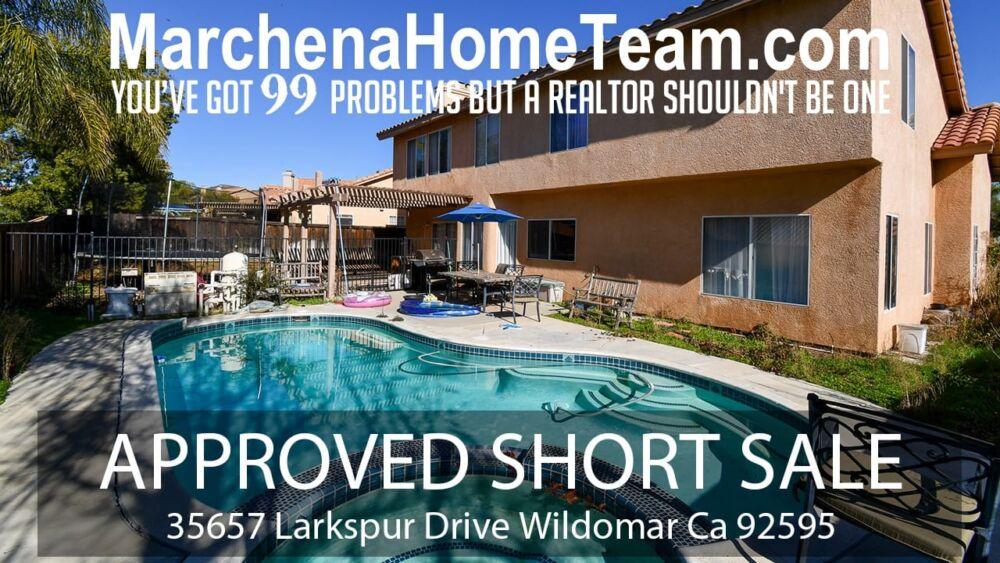 Short Sale 35657 Larkspur Drive Wildomar Ca 92595