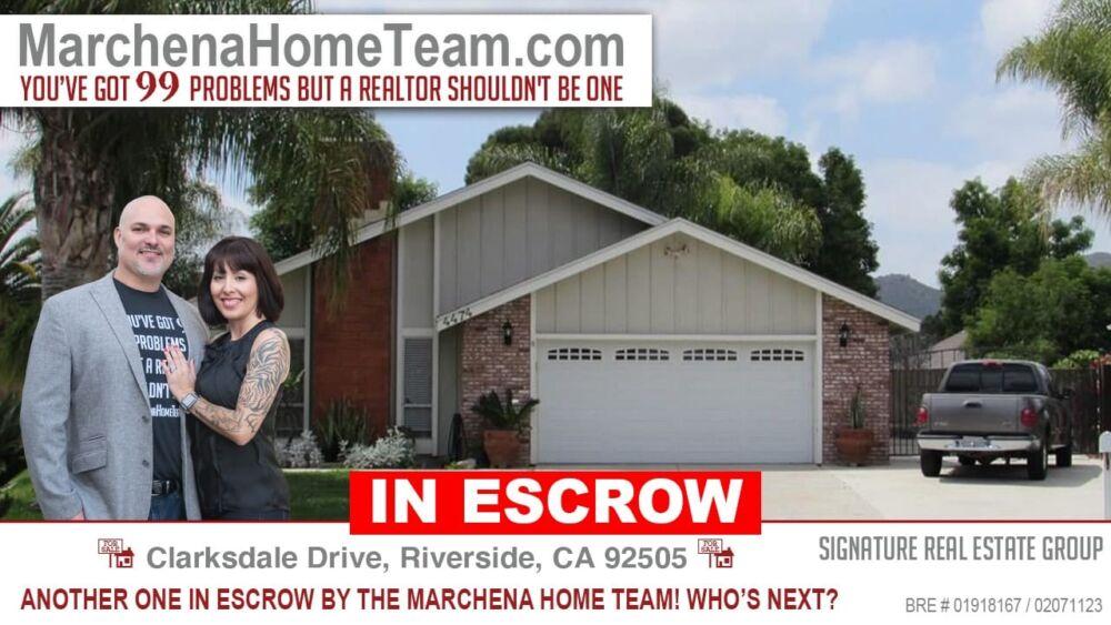 IN Escrow! Clarksdale Drive Riverside CA 92505