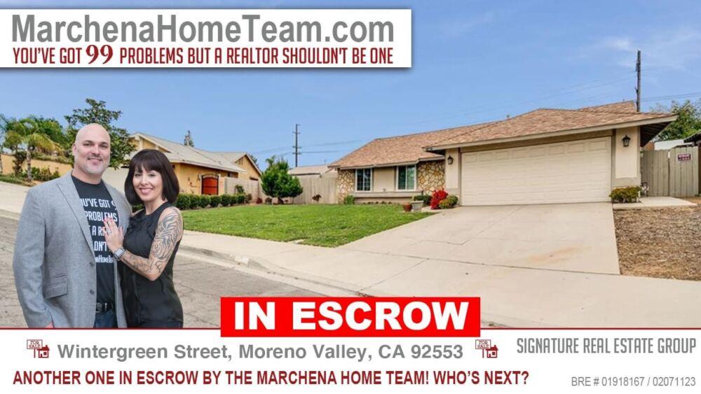 IN ESCROW - Wintergreen-Street Moreno Valley CA 92553
