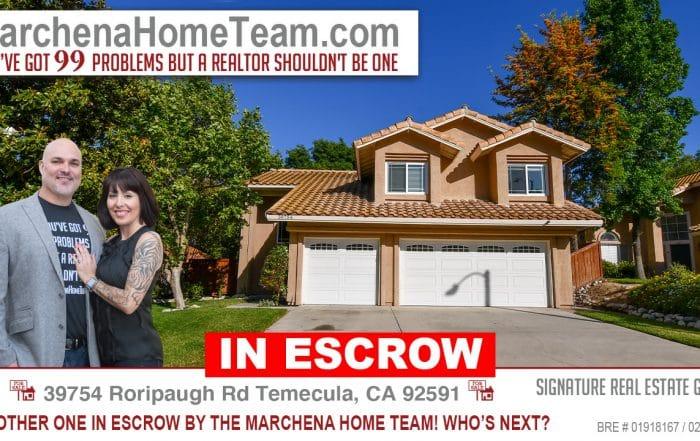 In Escrow 39754 Roripaugh Rd Temecula CA 92591