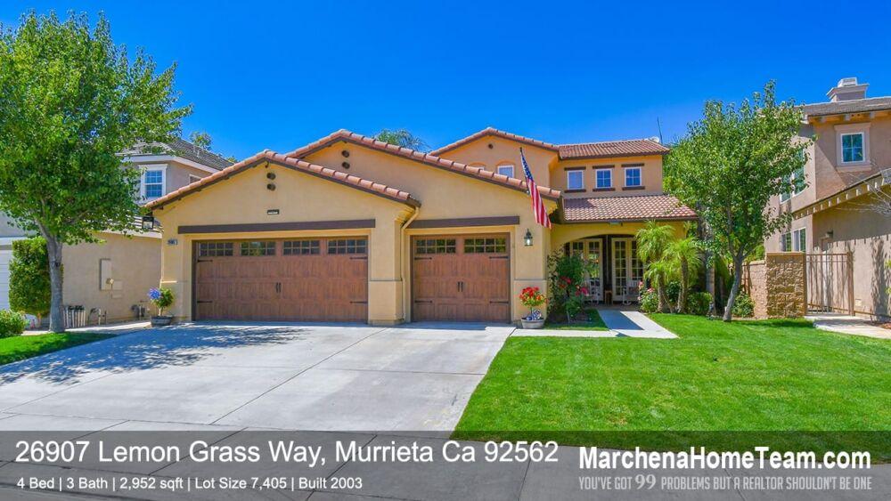 26907 Lemon Grass Way, Murrieta Ca 92562