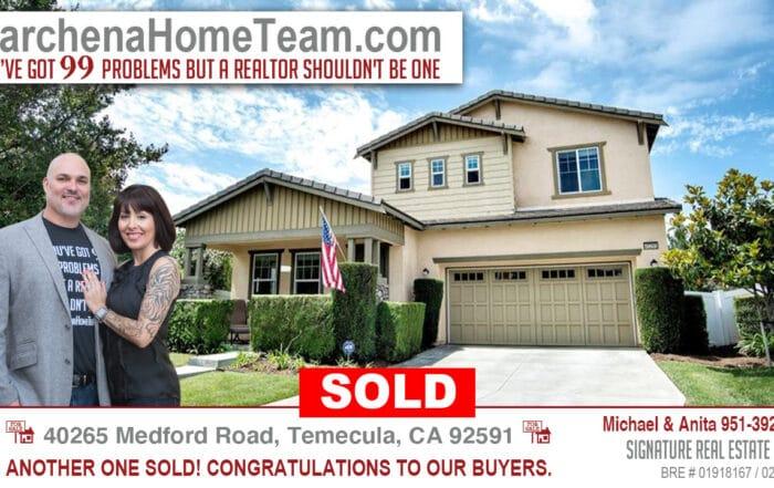 Sold 40265 Medford Road, Temecula CA 92591