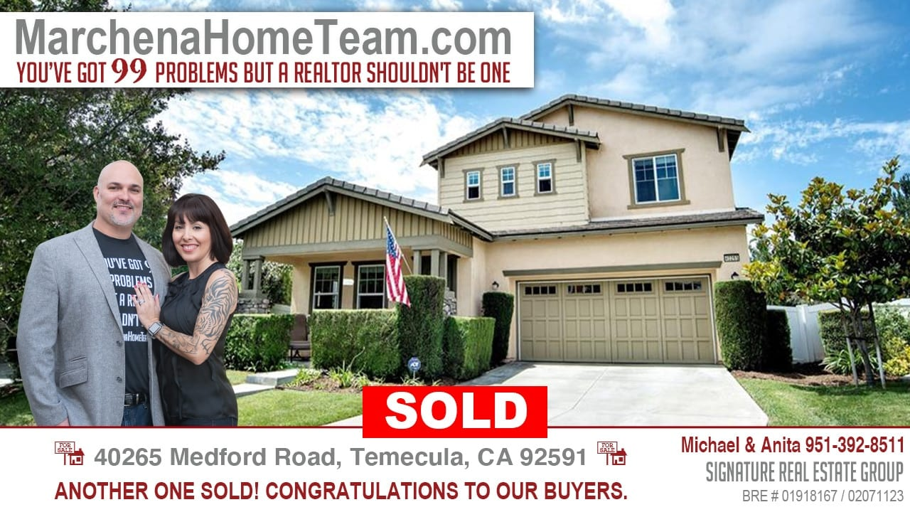 Sold 40265 Medford Road, Temecula CA 92591