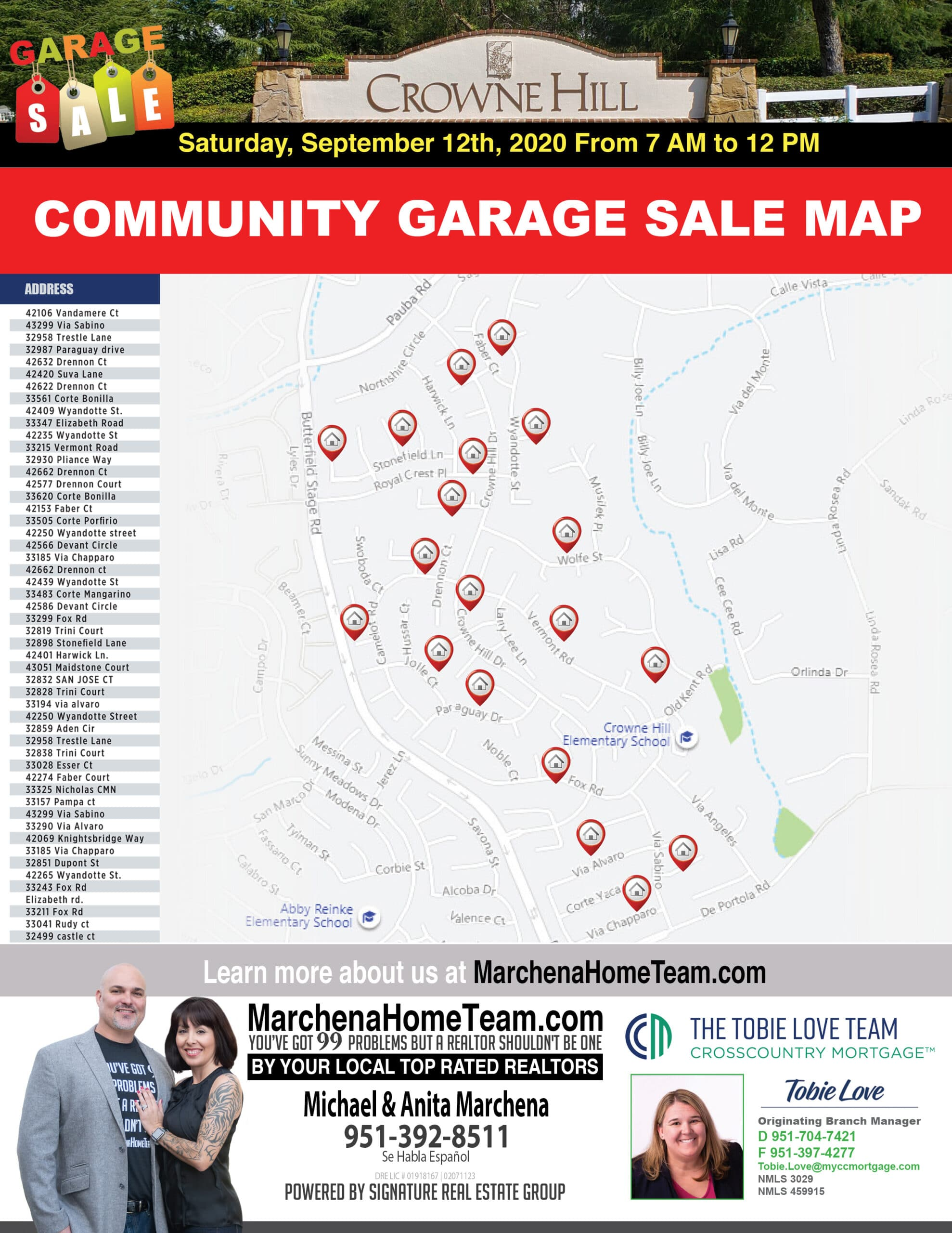 Crowne Hill Community Garage Sale