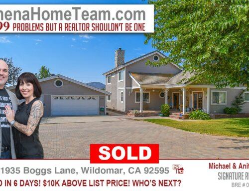 Sold | 21935 Boggs Lane Wildomar CA 92595