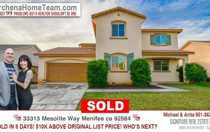 Sold 33313 Mesolite Way Menifee Ca 92584