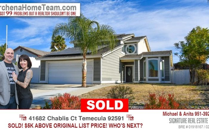 Sold 41682 Chablis Ct Temecula 92591