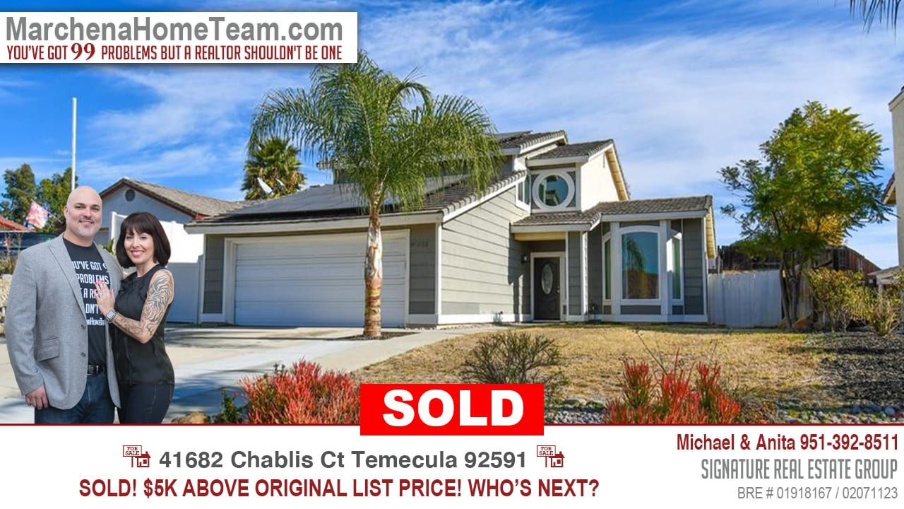 Sold 41682 Chablis Ct Temecula 92591