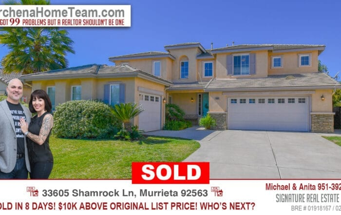 Sold 33605 Shamrock Ln Murrieta 92563