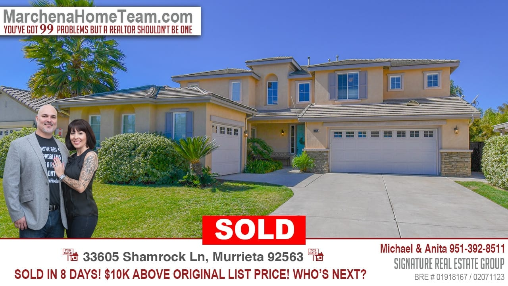 Sold 33605 Shamrock Ln Murrieta 92563