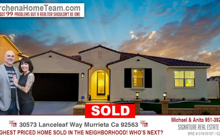 Sold 30573 Lanceleaf Way Murrieta Ca 92563