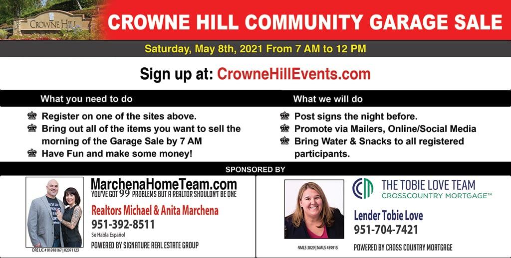 Crowne Hill Community Garage Sale