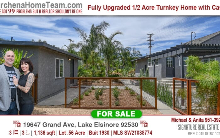 For Sale 19647 Grand Ave Lake Elsinore 92530